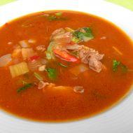 Ostrá polévka s kuřecím a zeleninou recept