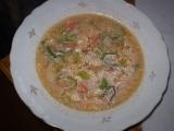 Drůbková polévka s protlakem a smetanou recept