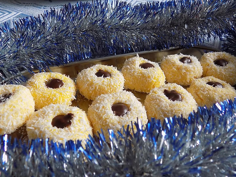 Kokosová hnízda z vařených žloutků recept