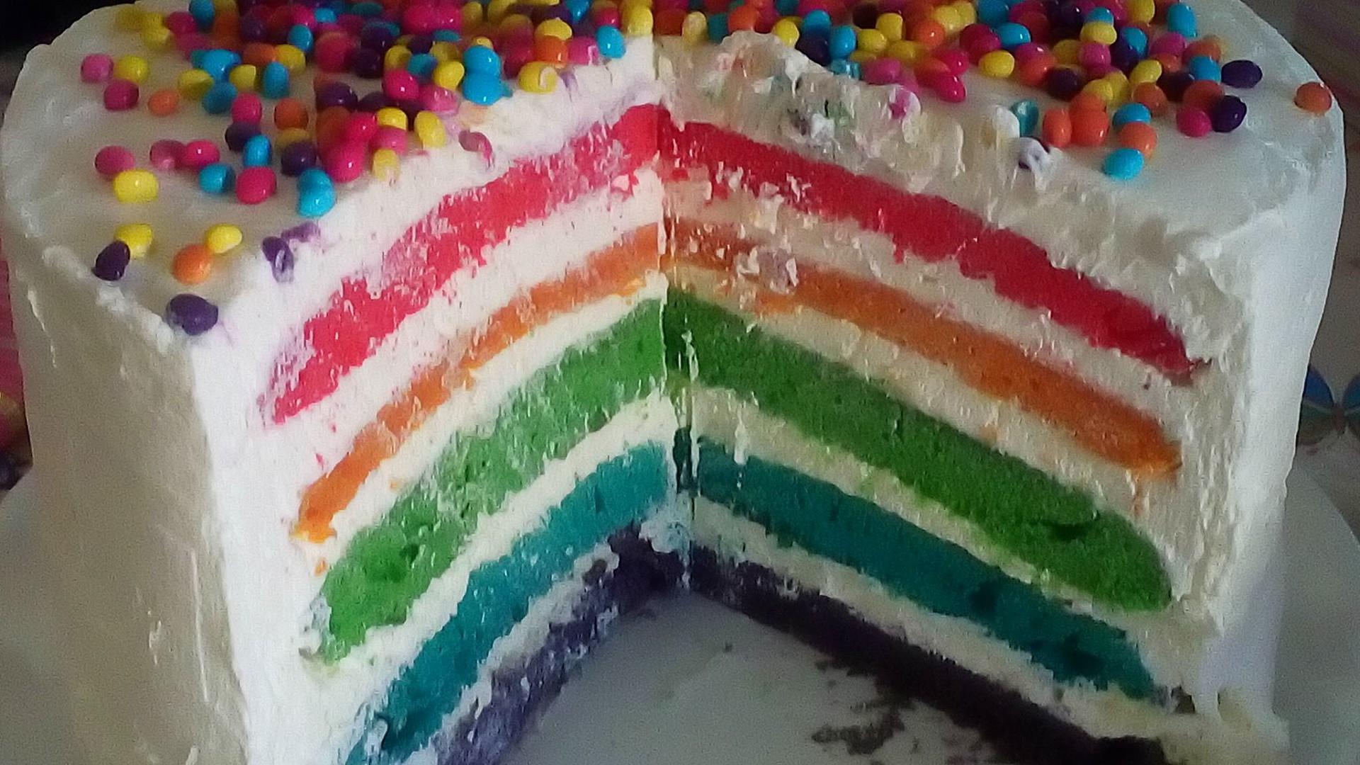 Duhový dort recept