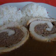 Mleté maso v kuřecí roládě recept