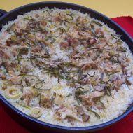 Kuře zapečené se žampiony a rýží recept