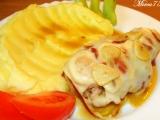 Kuřecí rolovaný plátek se slaninou, zázvorem a uzeným sýrem ...