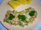 Hlíva s mrkví a hráškem recept
