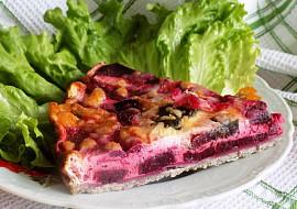 Pohankový koláč s červenou řepou recept