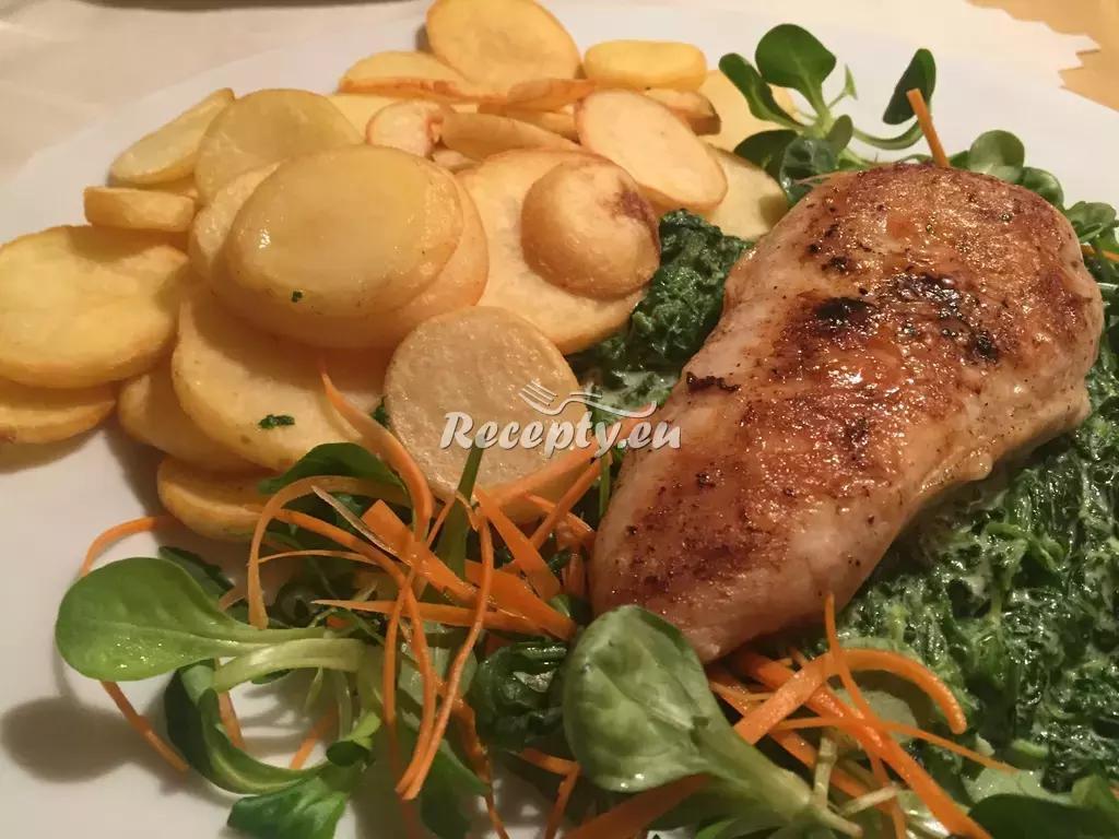 Telecí roláda se špenátem recept  telecí maso