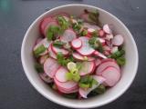 Cibulový salát s ředkvičkou recept