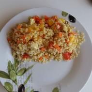 Dietní kuřecí zeleninové rizoto nebo bulguroto recept