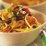 Špagety se slávkami recept
