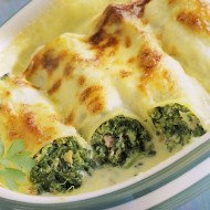 Cannelloni plněné špenátem recept