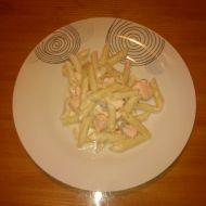 Fettuccine s uzeným lososem 1 recept