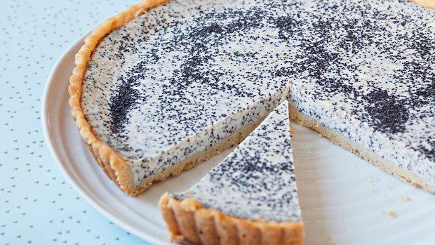 Francouzský tvarohový koláč s mákem