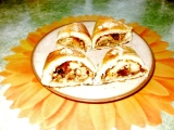 Trojhránky s medovým máslem a ořechovým sypáním recept ...