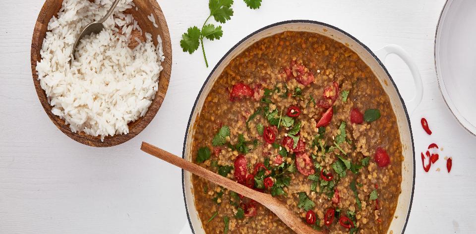 Červená čočka s chia semínky