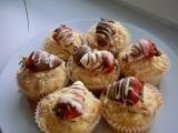 Jahodové muffiny s kokosovou drobenkou recept