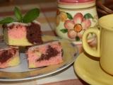 Barevný koláč recept
