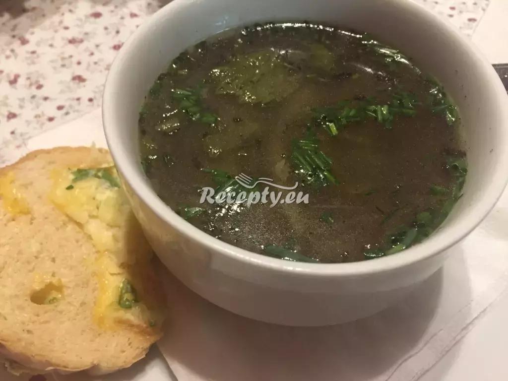 Hovězí cibulačka recept  polévky