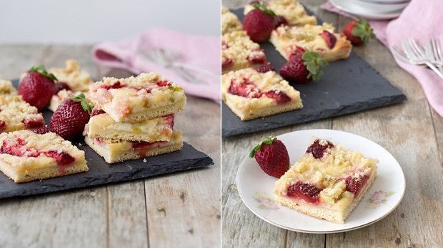 Kynutý koláč s ovocem a drobenkou