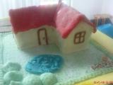 Bebe s marcipánem  dort domeček recept