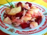 Bramborový salát s červenou řepou recept