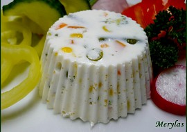Dietní tvarohové bábovičky se zeleninou  nepečené recept ...