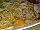 Tříbarevné hořčicové špagety s kuřecím masem recept ...