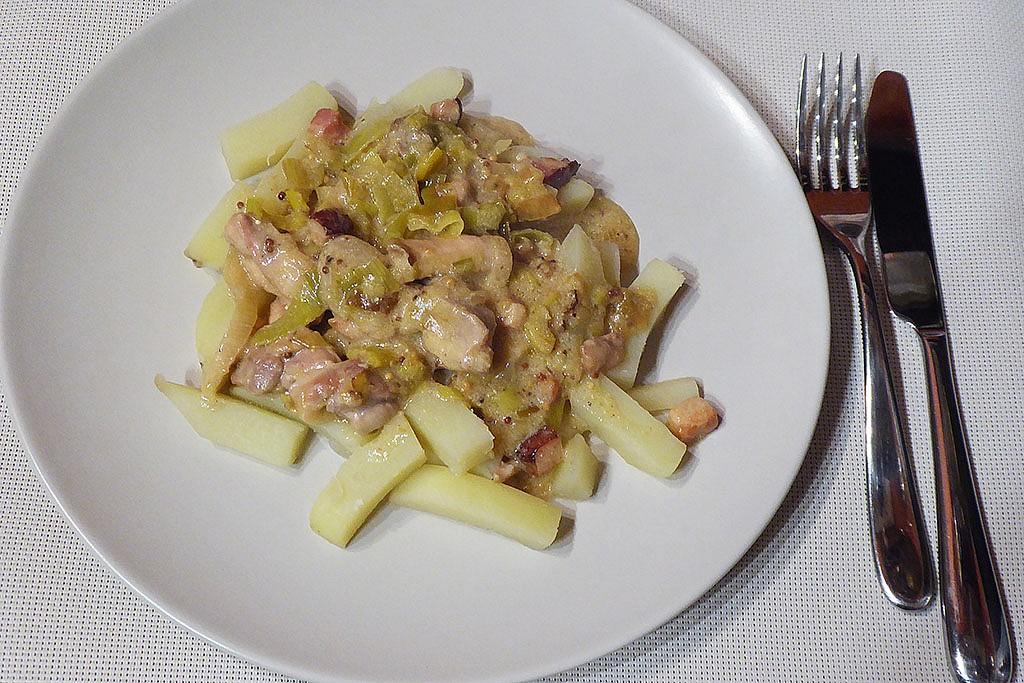Krémové kuře s pórkem recept