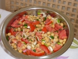 Salát z cizrny a hummus recept
