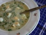 Sýrová polévka s vejci recept