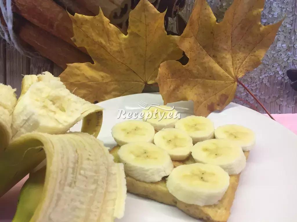 Sladké banánové toasty recept  topinky, toasty, sendviče