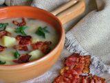 Celerová polévka se slaninovými chipsy recept
