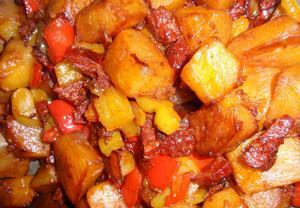 Chorizo dýně s paprikou a zázvorem