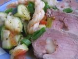Plněná panenka korbáčky s restovanou zeleninou recept ...