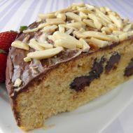 Dort s čokoládou a mandlemi recept