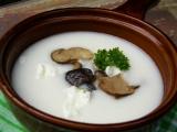 Brynzová polévka s hříbky recept
