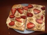 Jahodovo-banánový řez recept