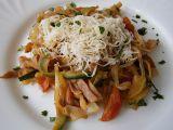 Zeleninové špagety se šunkou a zeleninou recept