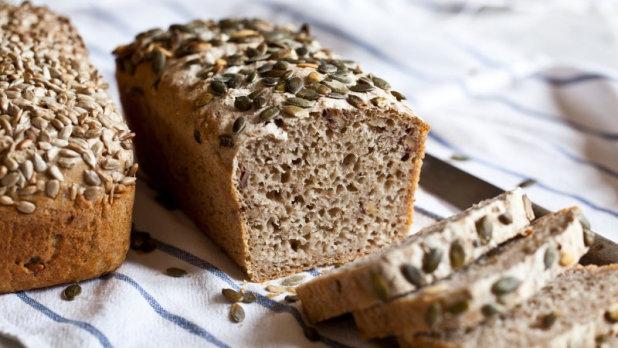 Celozrnný chléb bez hnětení