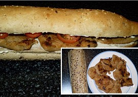 Svačinová bageta se soya steaky  vegan recept