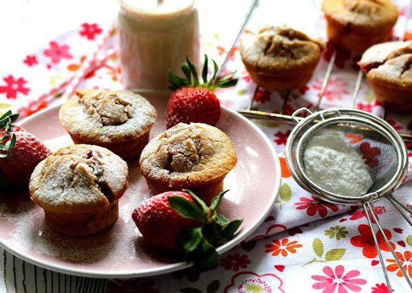 Jahodové muffiny z rýžové mouky recept