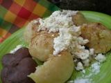 Knedlíčky z jablko-bramborového těsta recept
