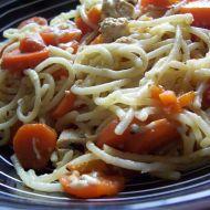 Špagety s mrkví a tofu recept