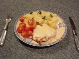 Kuřecí steak se sýrem a salámem recept
