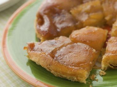 Tarte Tartin  obrácený jablkový koláč