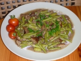 Houby s fazolkami recept