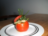 Rajče plněné špenátem recept