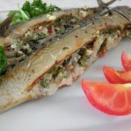 Pečené makrely s bylinkovou náplní recept