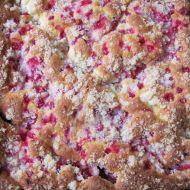 Rybízový koláč s drobenkou recept
