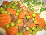 Krůtí srdíčka s mrkví a hráškem recept