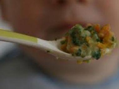 Králík se špenátem pro děti